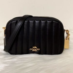 New💃Coach Jes Crossbody Linear Quilting Purse